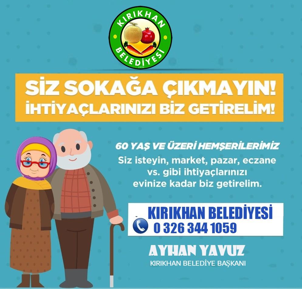 Kırıkhan'da 60 Yaş Üzerindeki Vatandaşlara Alışveriş Hizmeti