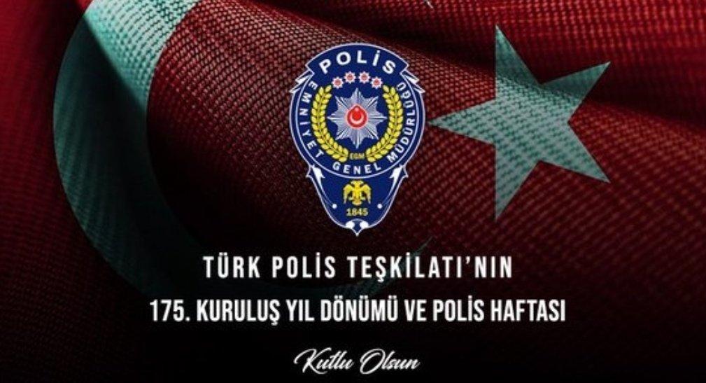 Vali Rahmi Doğan'ın 10 Nisan Polis Teşkilatı'nın kuruluş günü mesajı
