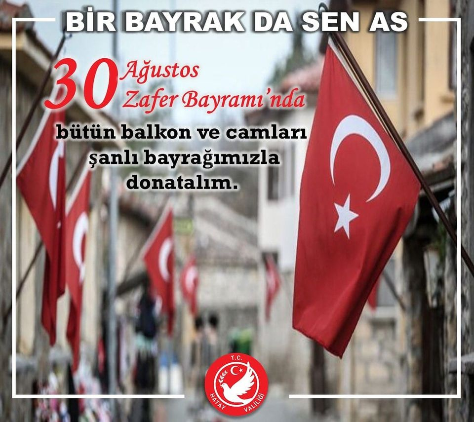 """BİR BAYRAKTA SEN AS!"""