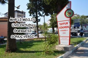 BELEDİYE ÜSTÜNDEKİ PARKA 'TAYFUR SÖKMEN' İSMİ VERİLDİ
