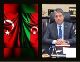 """BAŞKAN YAVUZ; """"AZERBAYCAN'LA, BAYRAKLARDAKİ HİLALİMİZ GİBİ KALPLERİMİZDE, YÜREĞİMİZDE BİR ATAR"""""""