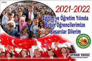 """YAVUZ; """"2021 -2022 EĞİTİM VE ÖĞRETİM YILI HAYIRLI OLSUN"""""""