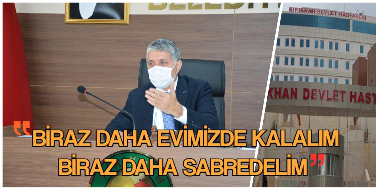 """YAVUZ; """"KIRIKHAN'DAKİ PANDEMİ, DÜŞME EĞİLİMİNE GİRMİŞTİR."""""""